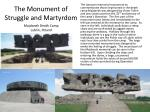 the monument of struggle and martyrdom