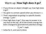 warm up how high does it go