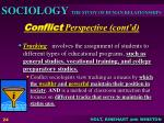 conflict perspective cont d