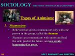 types of animism