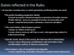duties reflected in the rules