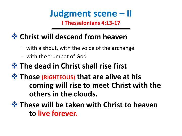 Judgment scene – II