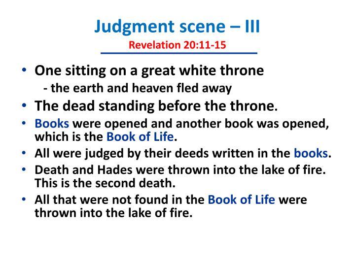 Judgment scene – III