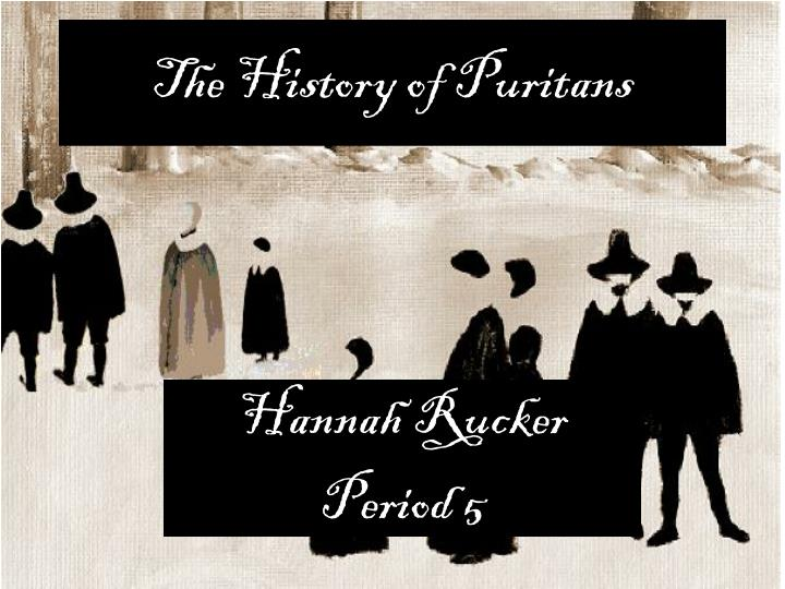 the history of puritans n.