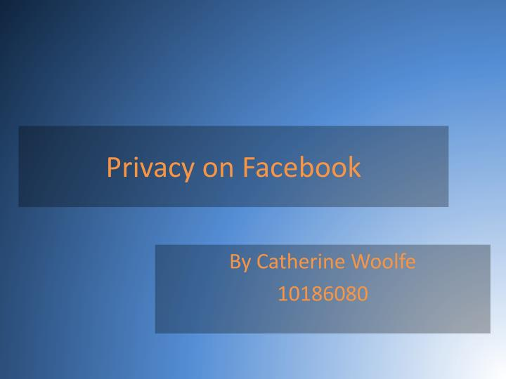 privacy on facebook n.