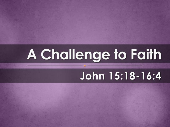 a challenge to faith n.