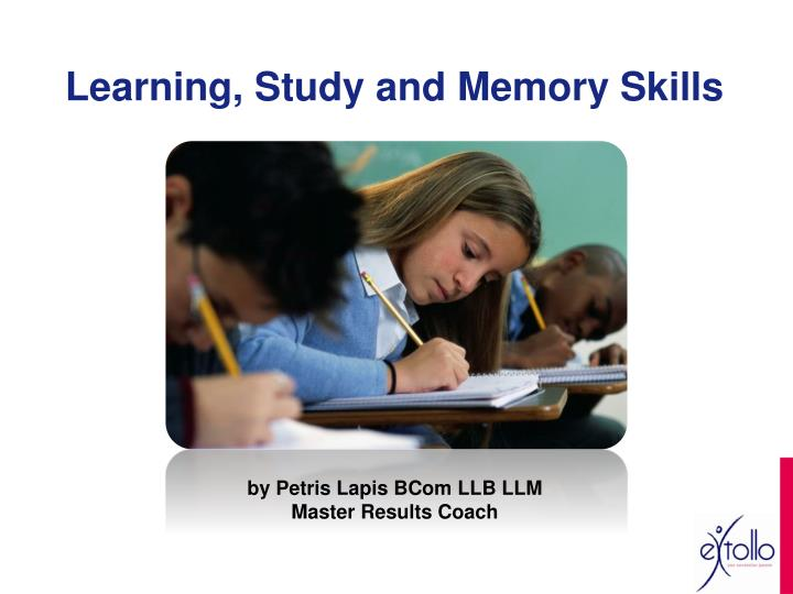 learning study and memory skills n.