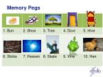 memory pegs