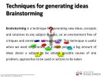 techniques for generating ideas brainstorming
