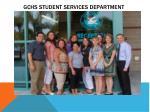 gchs student services department