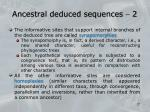 ancestral deduced sequences 2