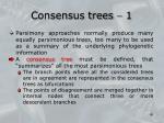 consensus trees 1