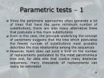 parametric tests 1