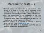 parametric tests 2