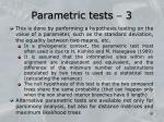 parametric tests 3