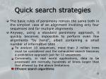 quick search strategies