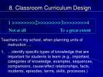 8 classroom curriculum design