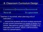 8 classroom curriculum design1