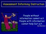 assessment informing instruction