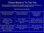 choice board or tic tac toe1