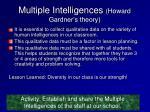 multiple intelligences howard gardner s theory