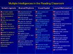 multiple intelligences in the reading classroom