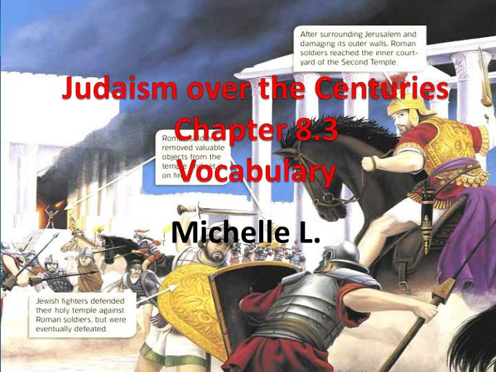 judaism over the centuries chapter 8 3 vocabulary n.