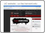 uc website uc fas harvard edu