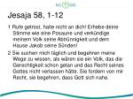 jesaja 58 1 12