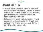 jesaja 58 1 121