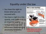 equality under the law2