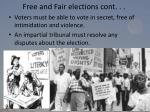 free and fair elections cont
