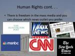 human rights cont
