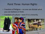 point three human rights