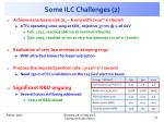 some ilc challenges 2