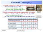 some tlep challenges 1
