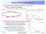 some tlep challenges 2