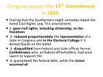 congress passes the 14 th amendment in 1866