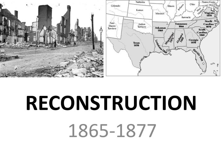 reconstruction n.