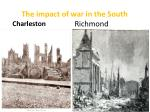 the impact of war in the south richmond