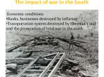 the impact of war in the south