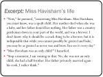 excerpt miss havisham s life