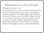 miss havisham s life continued