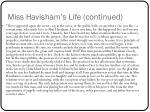 miss havisham s life continued1