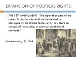 expansion of political rights2