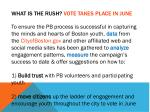 what is the rush vote takes place in june