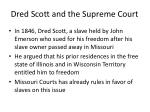 dred scott and the supreme court