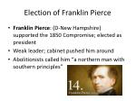 election of franklin pierce