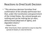 reactions to dred scott decision