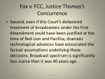 fox v fcc justice thomas s concurrence